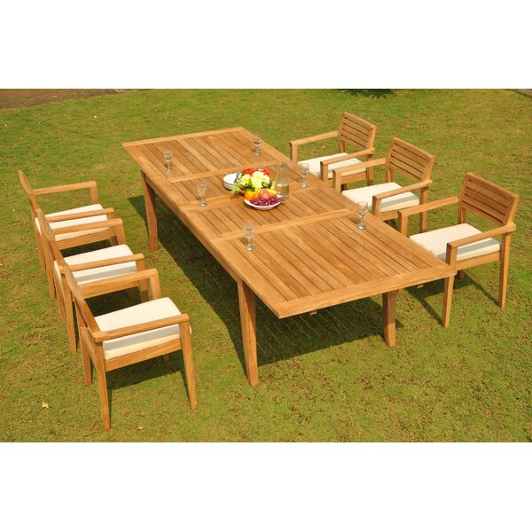 Deshaun 7 Piece Teak Dining Set by Rosecliff Heights