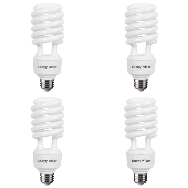40W E26 CFL Spiral Light Bulb Frosted (Set of 4) by Bulbrite Industries