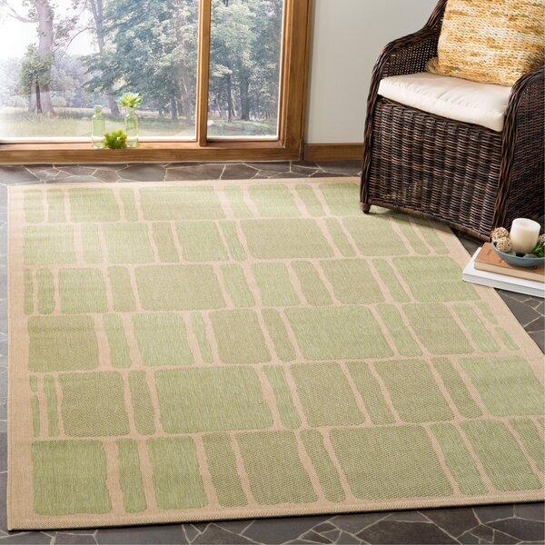 Martha Stewart Blocks Green/Beige Area Rug by Martha Stewart Rugs