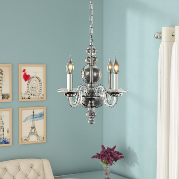 Elissa 4 - Light Candle Style Classic / Traditional Chandelier By Rosdorf Park