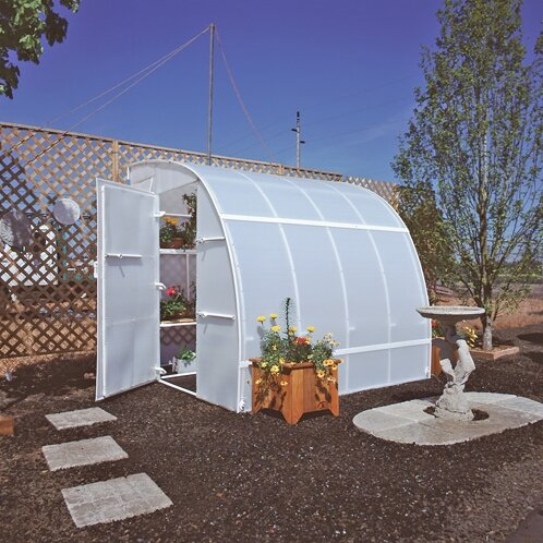 Harvester 8 Ft. W x 16 Ft. D Lean-To Greenhouse by Solexx
