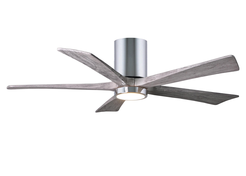 Flush Mount Ceiling Fan Hugger Low Profile Stylish Led Light Indoor Outdoor Wet