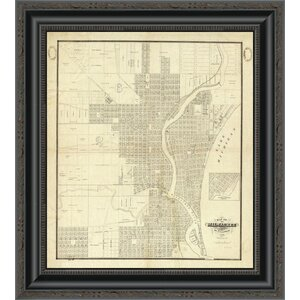 'Map of Milwaukee; 1856' Framed Print by East Urban Home