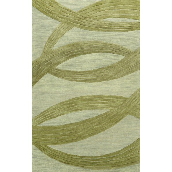 Roxanne Hand-Tufted Wool Sage Area Rug by nuLOOM