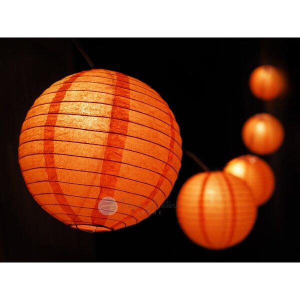 Halloween Jack O Lantern Pumpkin Paper Lantern String Light by The Paper Lantern Store
