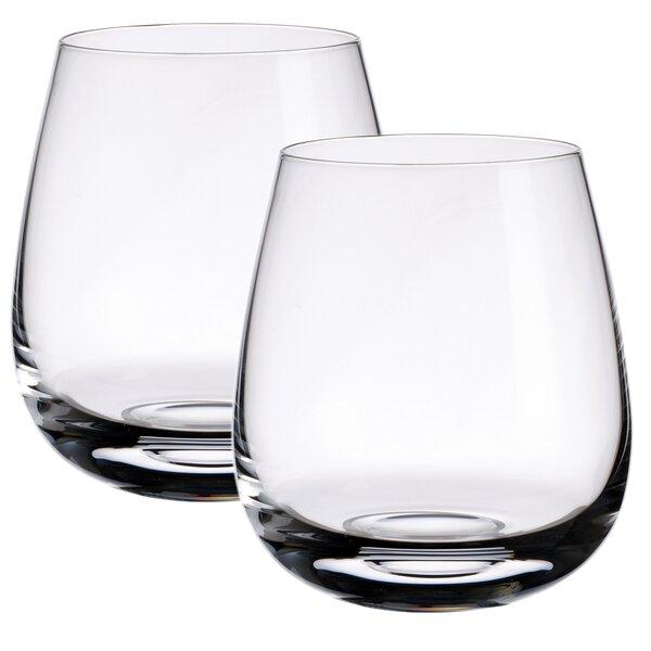 Scotch Whiskey Single Malt Islands Whisky 13 oz. Crystal Cocktail Glass (Set of 2) by Villeroy & Boch