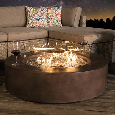 Arlmont and Co. Koby Concrete Propane Fire Pit Table