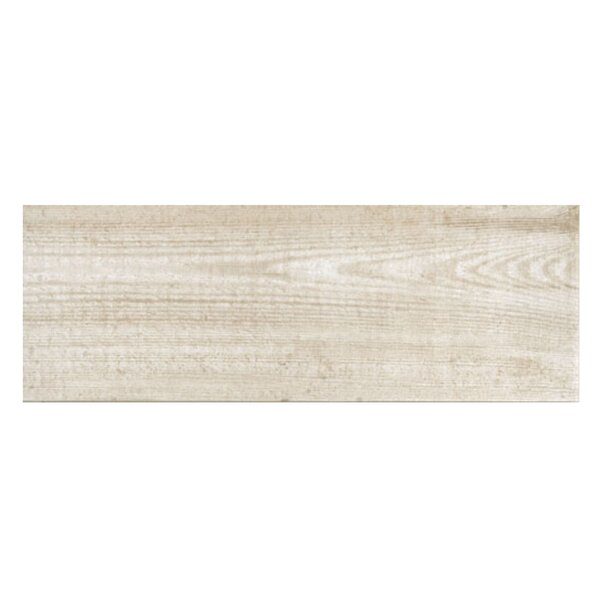 Bayur Blanco 6.8 x 19.5 Ceramic Wood Look Tile in Bone White by Casa Classica