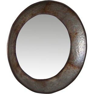 17 Stories Corisande Round Natural Accent Mirror