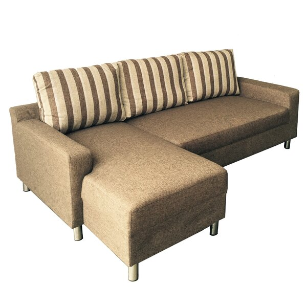 Justine Reversible Sleeper Sectional by Bay Isle Home