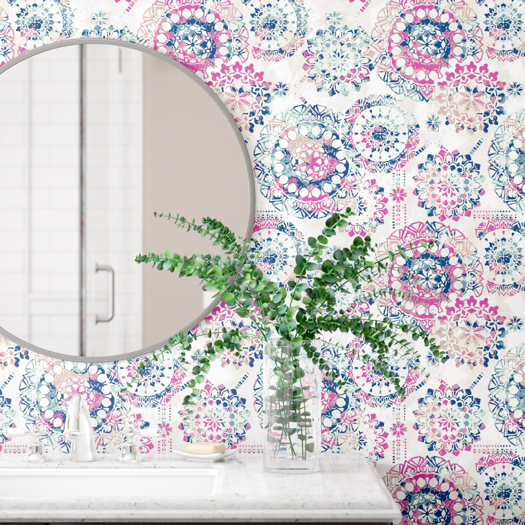 Destiney Bohemian 16 5 L X 20 5 W Floral And Botanical Peel And
