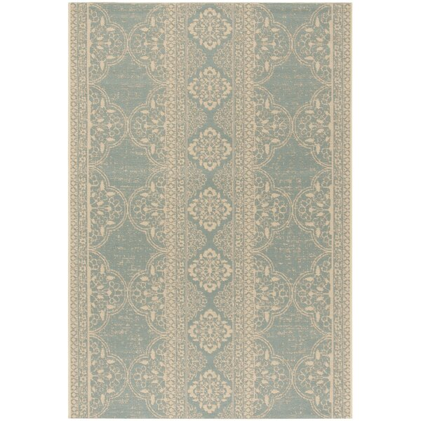 Shantell Aqua/Cream Area Rug by Brayden Studio