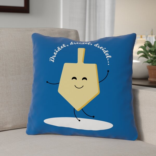 Dreidel Dreidel Dreidel Throw Pillow by The Holiday Aisle