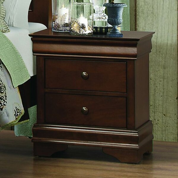 Alivia 2 Drawer Nightstand by Alcott Hill