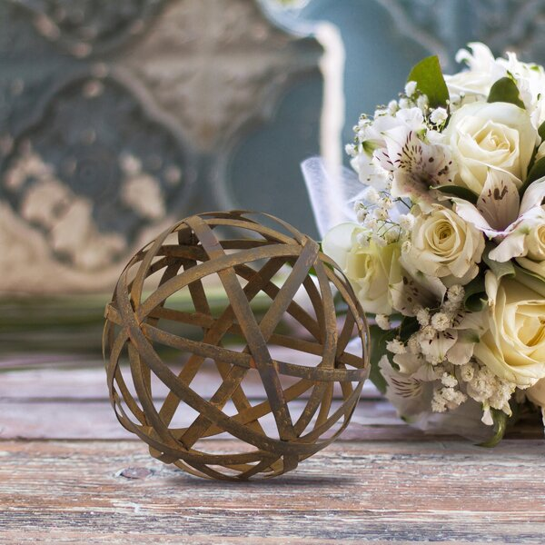 Rustic Metal Orb Filler Sculpture by Williston Forge