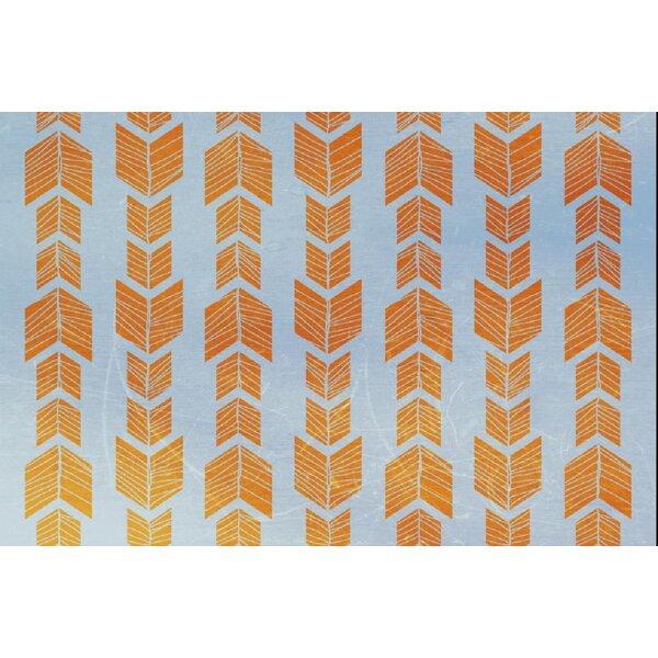 Debarr Orange/Blue Area Rug by Bungalow Rose