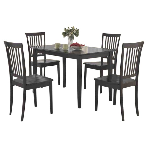 Holcomb 5 Piece Dining Set by Red Barrel Studio
