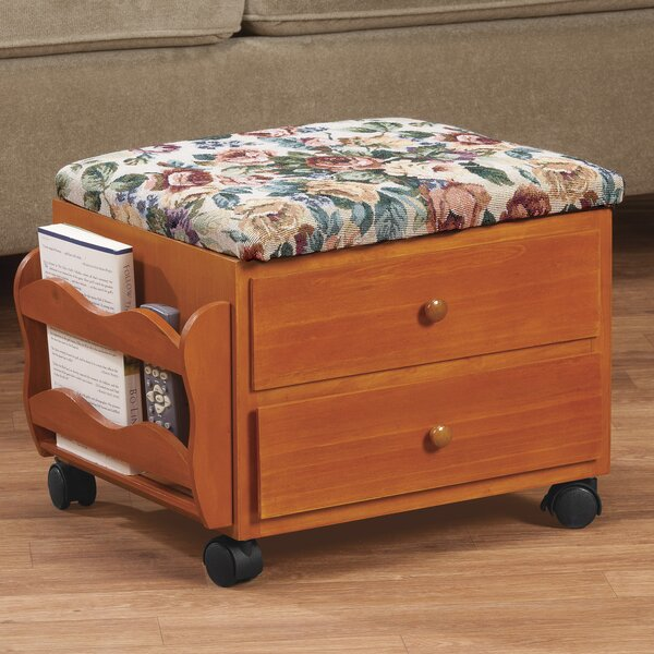 Rolling Storage Ottoman by Miles Kimball