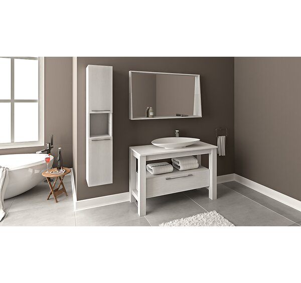 Eveleth Wood Veneer 47 Single Bathroom Vanity Set with Mirror by Union Rustic