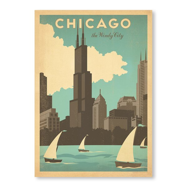 Chicago Windy City Vintage Advertisement by East Urban Home