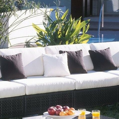 Ferraro Patio Chair with Sunbrella Cushions by Andover Mills Andover Mills