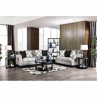 Zampa Gwestva 2 Piece Standard Living Room Set by Longshore Tides