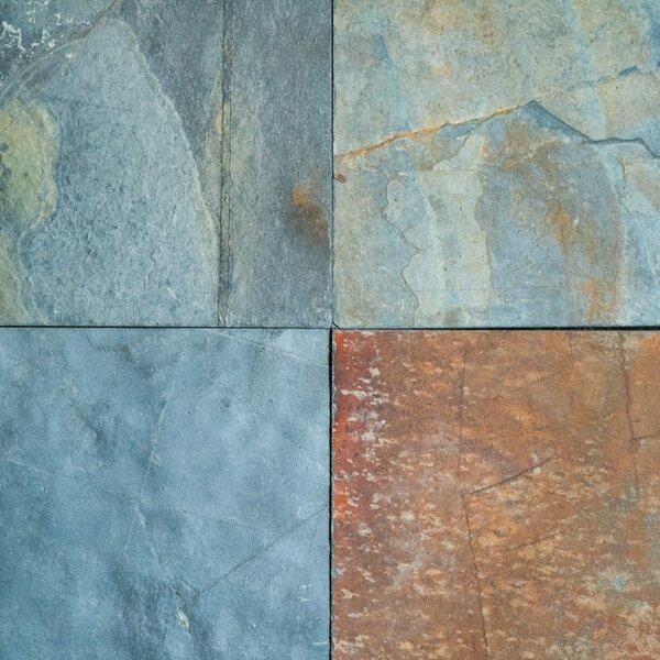 Jak Slate Natural Cleft Face, Gauged Back 16x16 Slate Field Tile