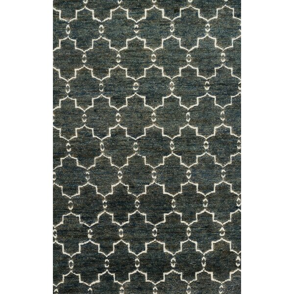 Palumbo Hand-Knotted Midnight Area Rug by Union Rustic