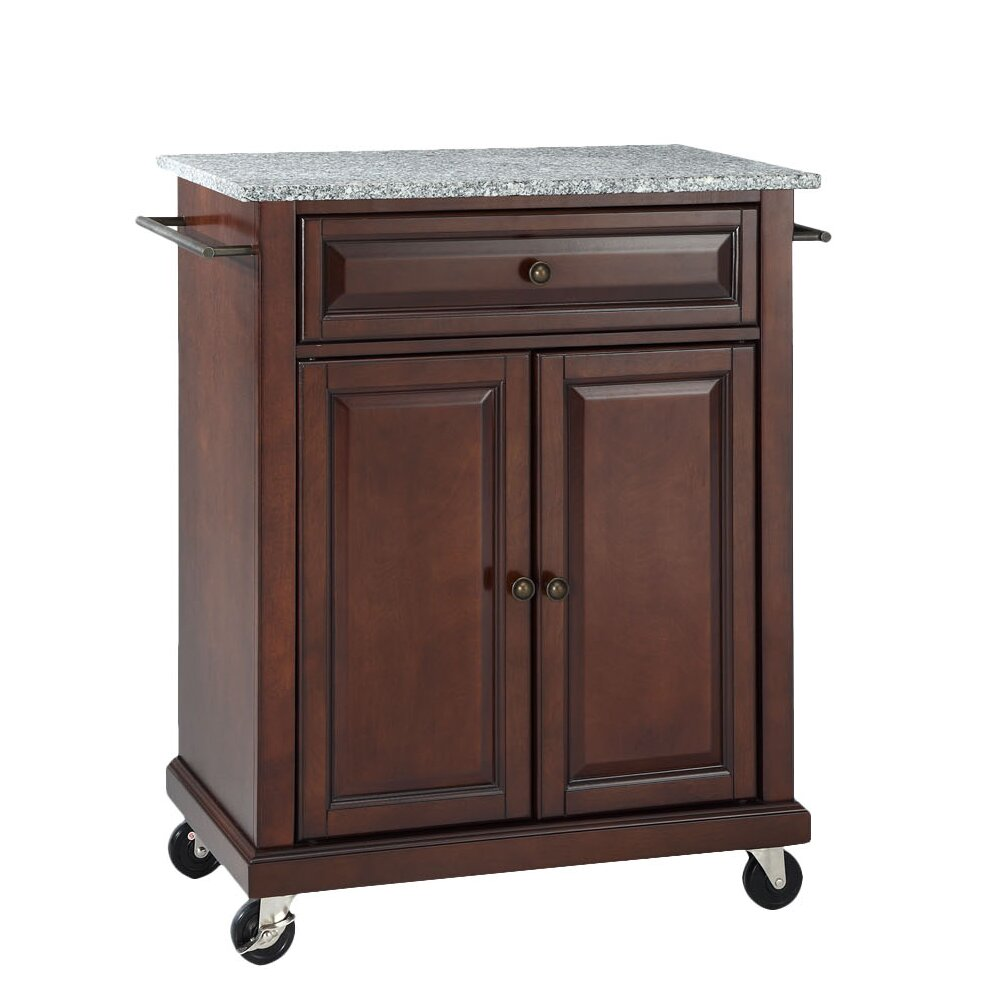 Darby Home Co Detweiler Solid Granite Top Portable Kitchen