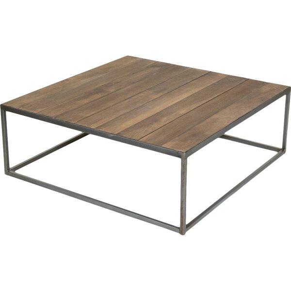 rezfurniture square vintage coffee table & reviews   wayfair