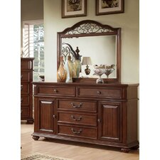 Lorrenzia 5 Drawer Combo Dresser with Mirror by Hokku Designs