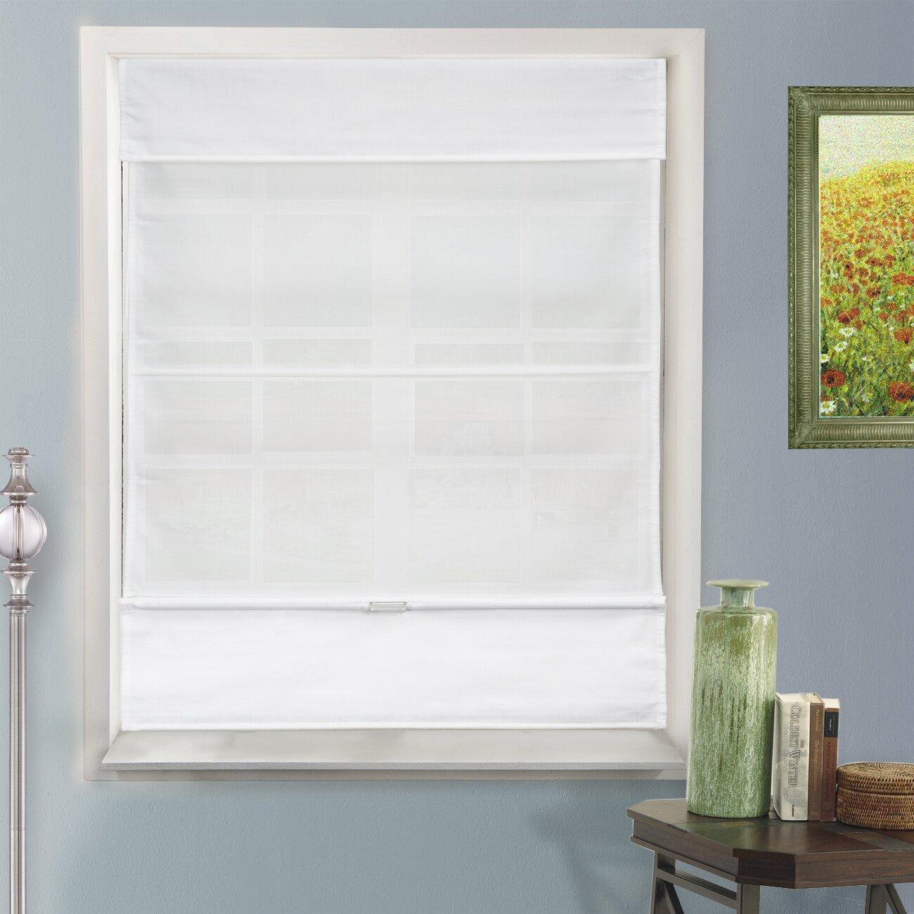 Door Window Roman Shade - Louise magnetic roman shade