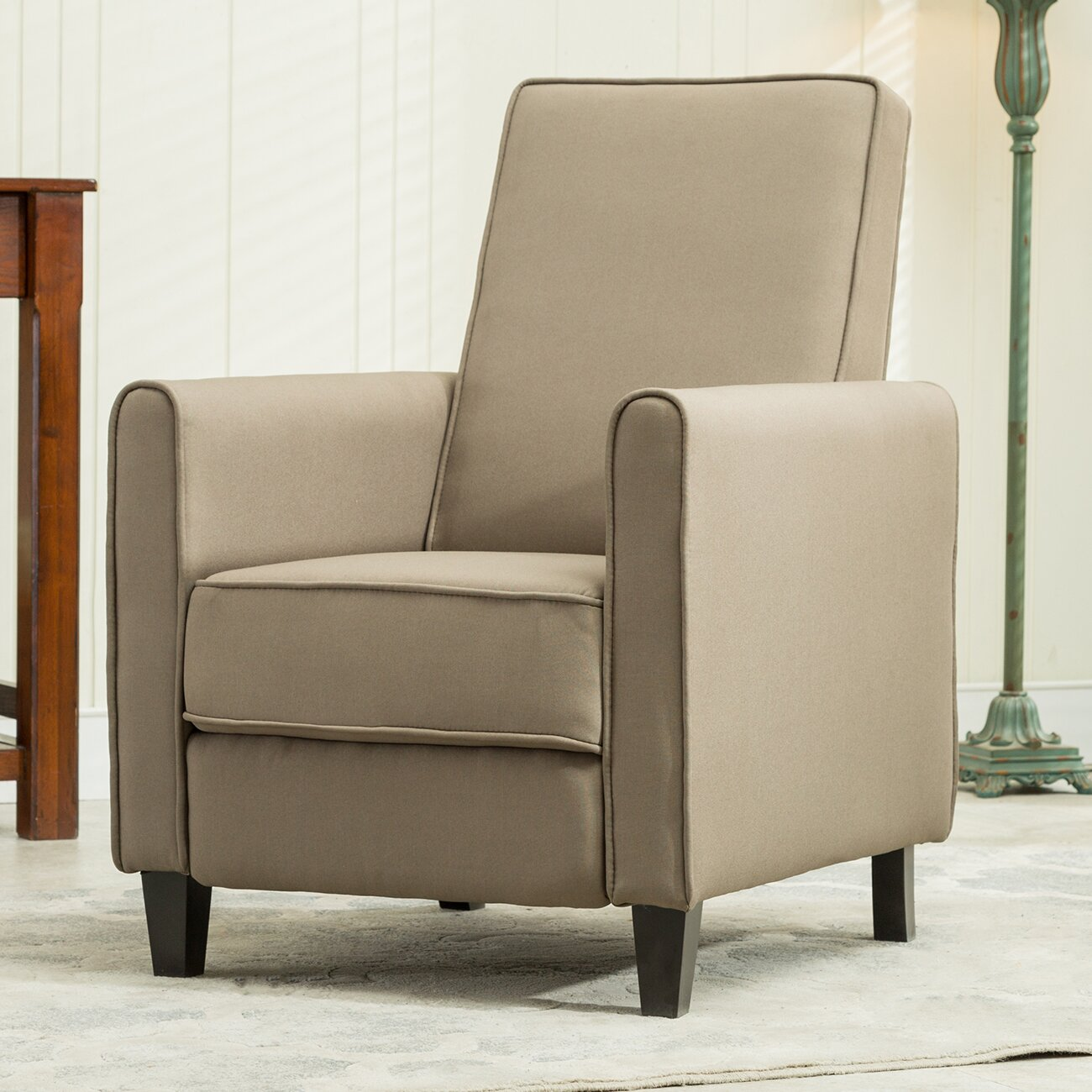 Club chair recliner - Kierra Modern Living Room Club Recliner