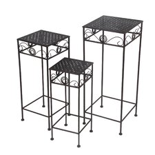 Boulder Creek 3 Piece Nesting Plant Stand by Three Posts
