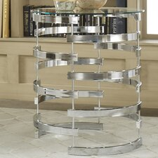 Paramount Round Glass Top Console Table by House of Hampton