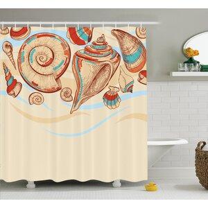 Mollusk Shower Curtain East Urban Home