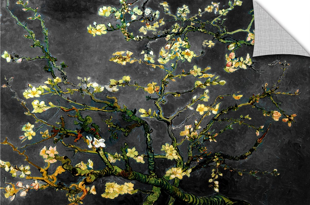 artwall almond blossom interpretation in dahilia black by vincent default name