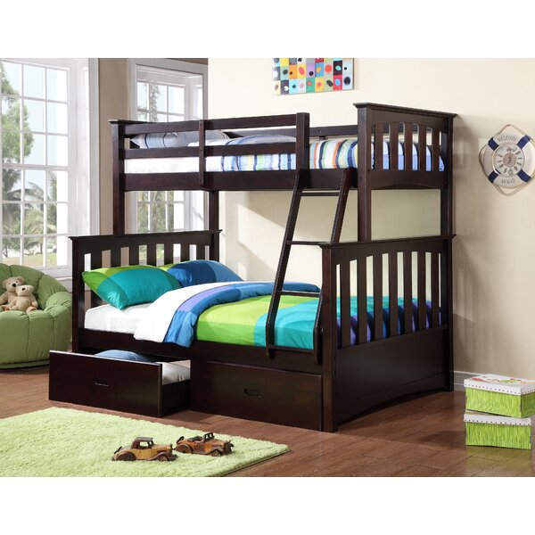 williams import co kira twin over full bunk bed with storage reviews wayfair. Black Bedroom Furniture Sets. Home Design Ideas
