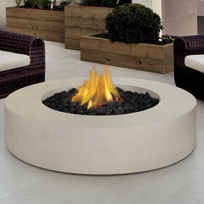 real flame mezzo propane fire pit table & reviews   wayfair
