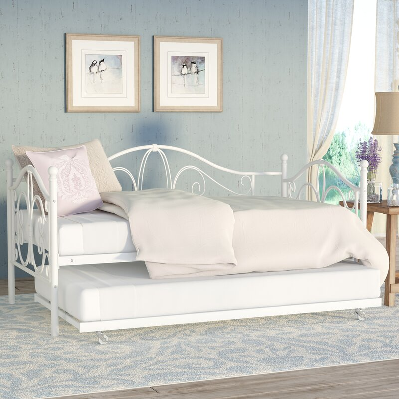 august grove baleine daybed with trundle & reviews | wayfair