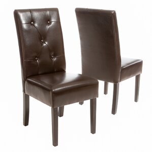 Brown Kitchen  Dining Chairs Youll Love Wayfair - Brown leather dining room chairs
