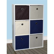 6-Cube 31.6 Shelving Unit with 6 Non-Woven Bins by Home Basics