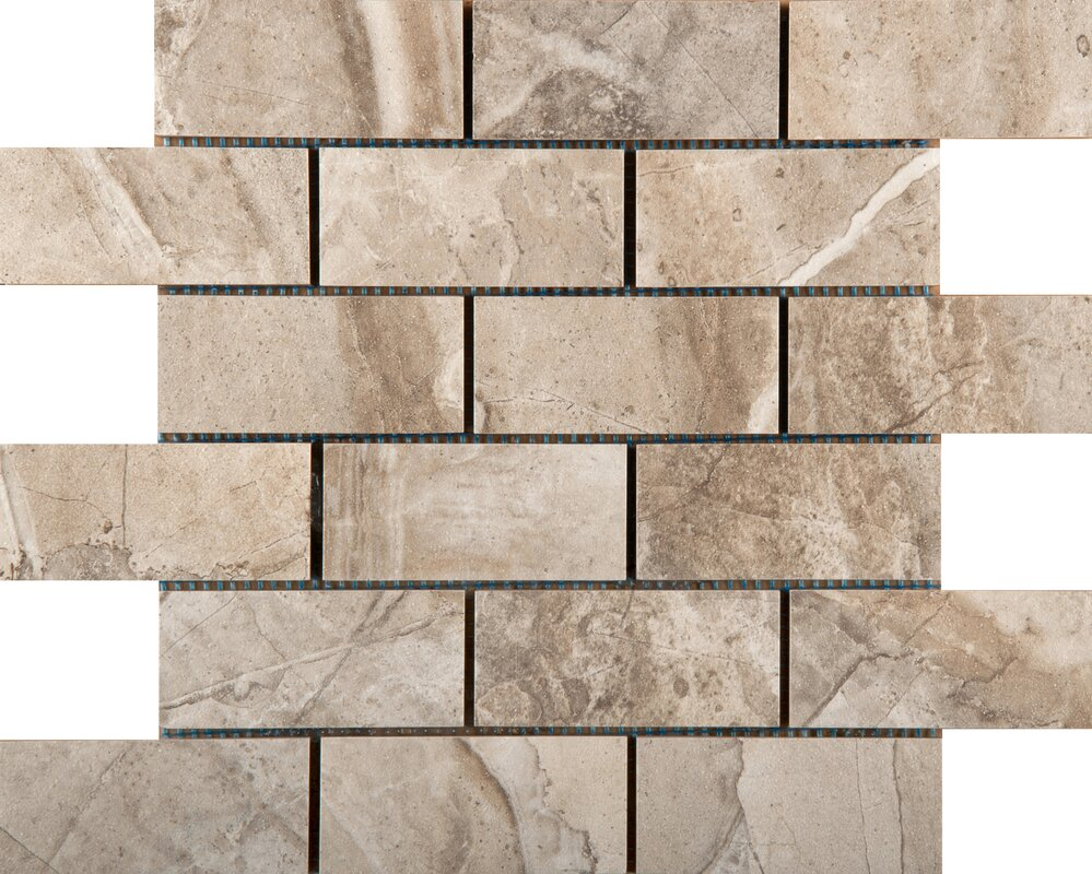 "emser tile eurasia 2"" x 4/13"" x 13"" porcelain tile in cafe mosaic"