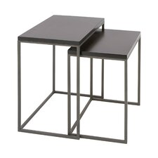 Metal and Wood 2 Piece Nesting Tables by Cole & Grey