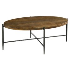 Metal and Wood Oval Coffee Table by Hekman
