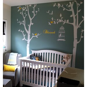Trees And Flower Wall Decals Youll Love Wayfair - Nursery wall decals canada