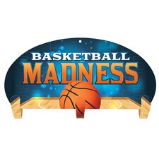 Basketball Madness 3 Hook Coat Rack by Next Innovations