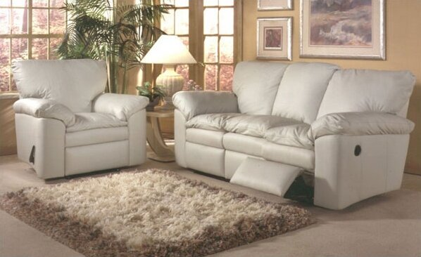 Omnia Leather El Dorado Leather Sleeper Sofa Living Room Set