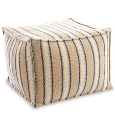 Cambridge Indoor/Outdoor Pouf Ottoman by Fresh American