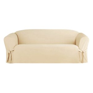 Solid Faux Suede Sofa Slipcover by Alcott Hill